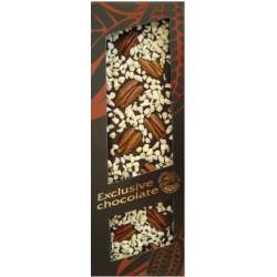 Exclusive čokoláda hořká s pekanovými ořechy a ananasem 120g