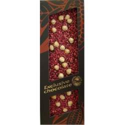 Exclusive čokoláda hořká s lískovým ořechem a malinami 120g