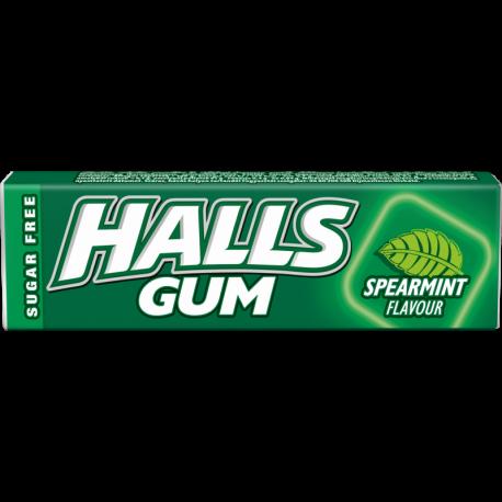 Halls Spearmint žvýkačky bez cukru mátové 15x14g