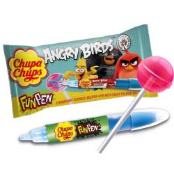 Chupa Chups Fun PEN Angry Birds 27g /24ks/